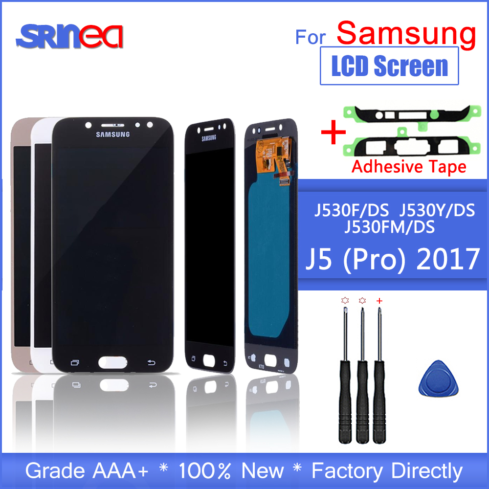 AMOLED <font><b>LCD</b></font> Für <font><b>SAMSUNG</b></font> <font><b>Galaxy</b></font> J5 Pro 2017 <font><b>J530</b></font> J530F J530FM SM-J530F J530G/DS <font><b>LCD</b></font> Display Touchscreen Digitizer montage image