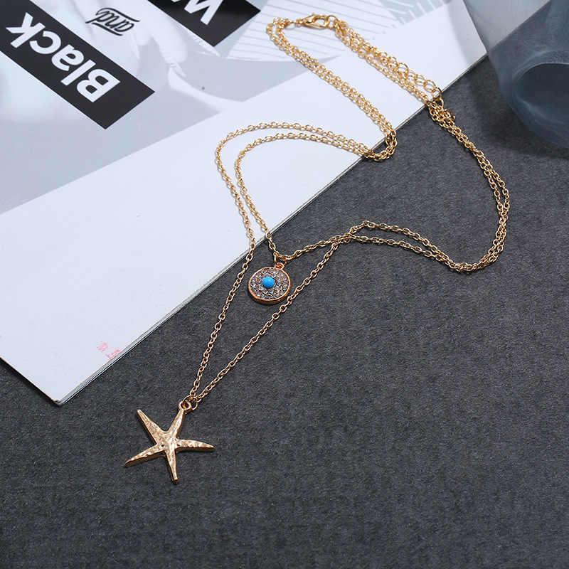 Artesanal concha curta clavícula colar feminino europeu e americano moda havaiana personalizado lazer colar