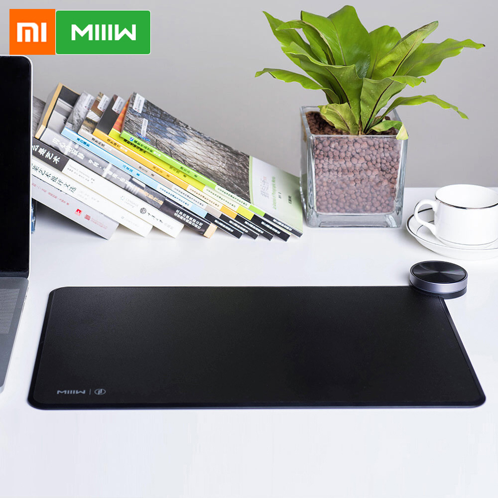 Xiaomi MIIIW Mouse Pad Smart Qi Standard Support Mix2S Wireless Charging Mousepad ABS Mouse Mat RGB Light Mouse Pad