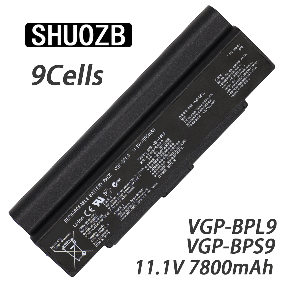 VGP BPL9 Laptop Battery for SONY VAIO VGP BPS9/B BPS10 BPS9 BPL10 VGP BPS9/S VGP BPS9A/S VGP BPS9/B VGP BPL9 new 7400mAh 11.1V|Laptop Batteries| |  - title=