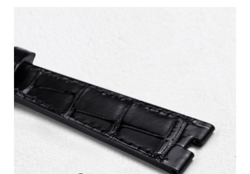 20mm pulseira de relógio de pele de