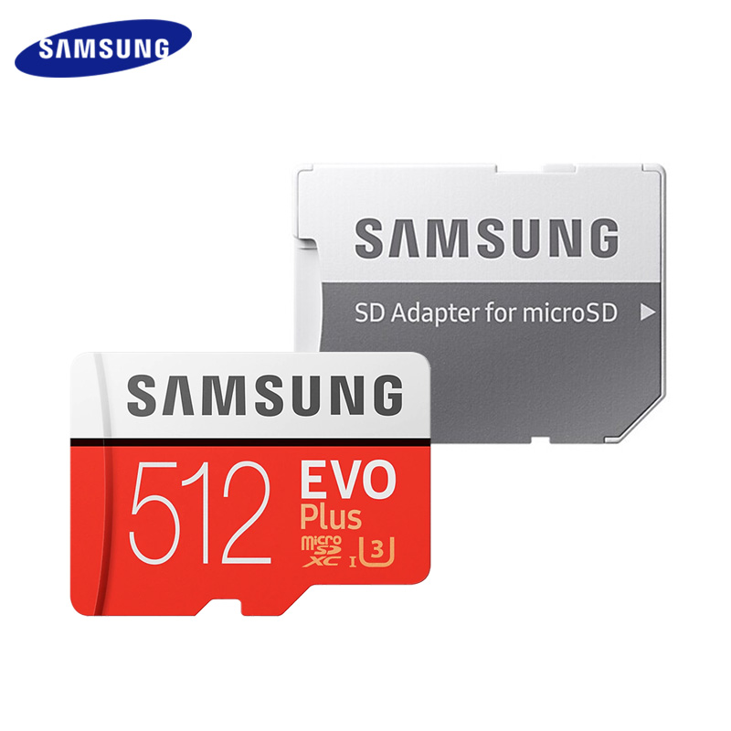 Original SAMSUNG EVO Plus 512GB Micro SD Card U3 Flash Cards SDXC Max 100MB/s TF Card 512gb Trans Flash Card Memory Card