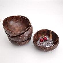 Coconut-Bowl Noodle Salad Work-Decoration Soup Eco-Friendly Wooden Natural Handicraft