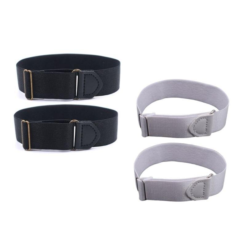 2x Mens Groom Shirt Sleeve Holder Metal Anti-slip Straps Elastic Stretch Armband High Quality And Brand New