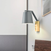 الشمال الخشب الجدار أضواء الحديثة الحد الأدنى الإبداعية غرفة المعيشة غرفة نوم السرير الممر مصباح خشب متين