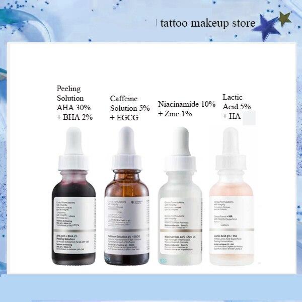 30ml The Ordinary Peeling Solution AHA 30% + BHA 2% Niacinamide 10% + Zinc 1% Caffeine Solution 5% + EGCG Lactic Acid 5% + HA 2%