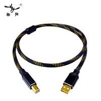 YYAUDIO USB кабель Hi-Fi  кабель для передачи данных  высокое качество  тип A-Тип B  Hi-Fi  для DAC