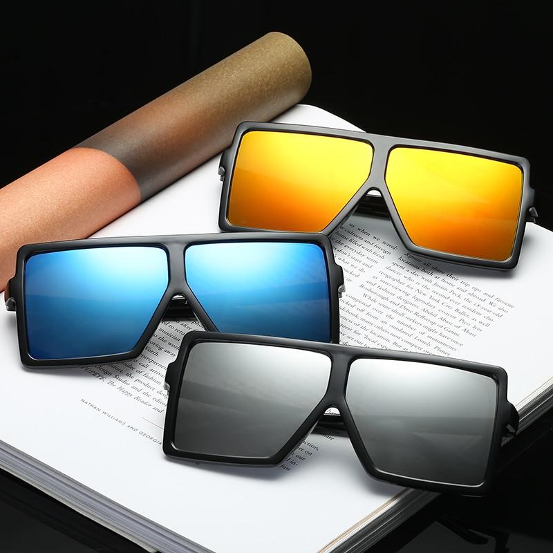 Oversize Big Size Shade For Women Sunglasses Square Shape Vintage Retro Large Sun Glasses Brand Design Eyewear