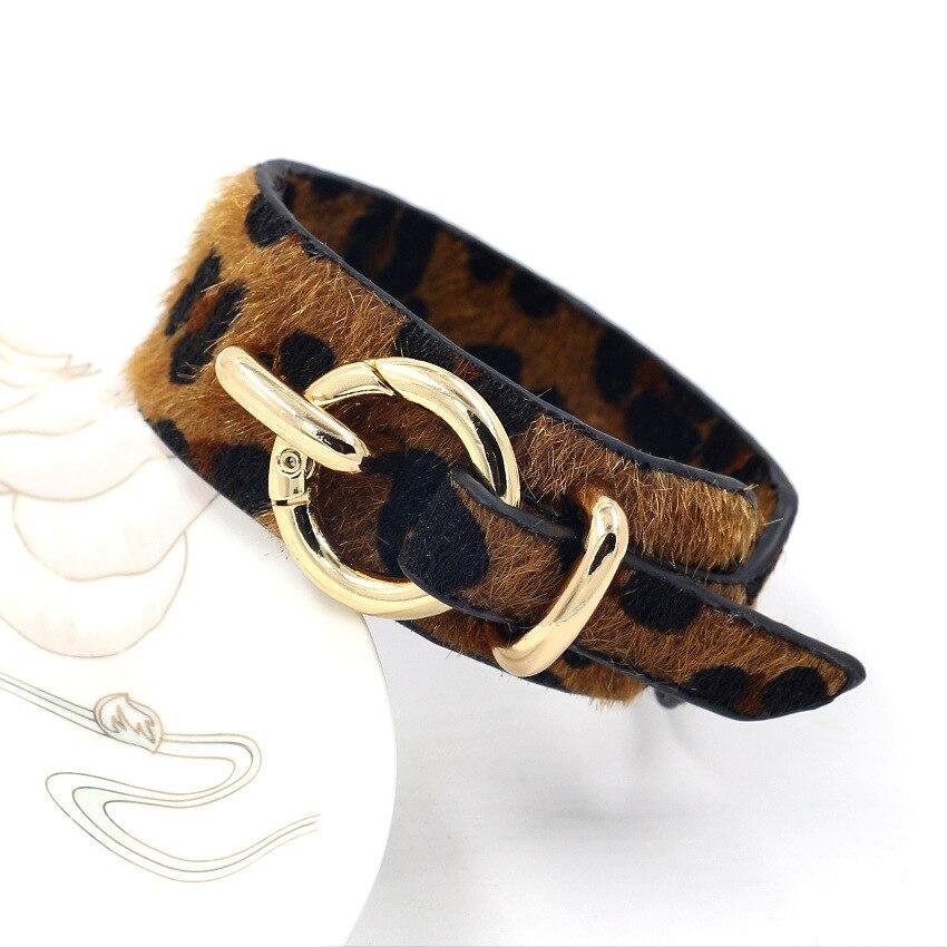 Kirykle-bracelet en cuir, géométrique, imprimé léopard, tendance, Vintage, bijoux de mariage pour femmes 2