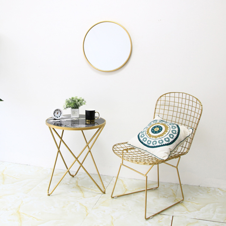 Iron Art Simple Restaurant Chair Modern Northern European-Style Network Red Chair Home Balcony Leisure Chair Makeup Manicure Sto