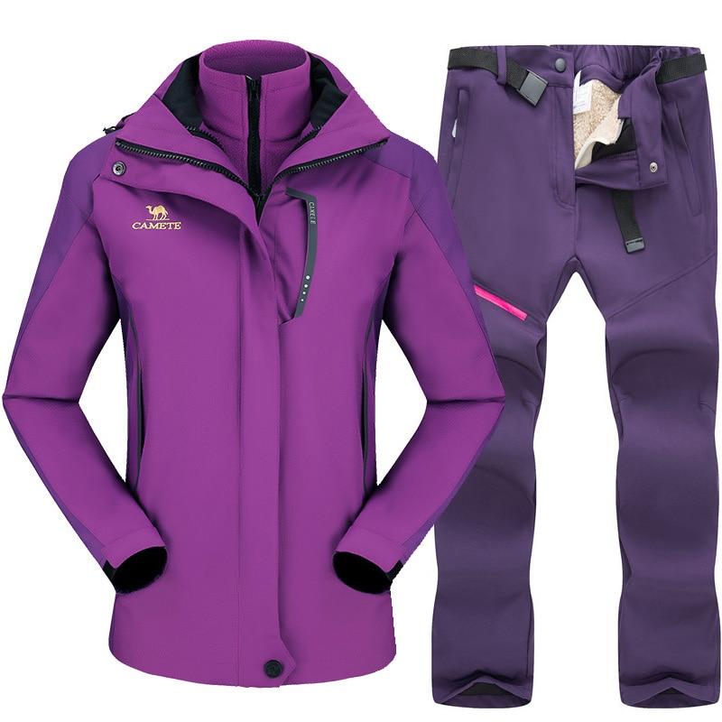 Skiing Suit For Women Snowboard Jacket Sets Thicken Warm Windproof Women's Winter Suit Outdoor Breathable Waterproof Ski Jackets