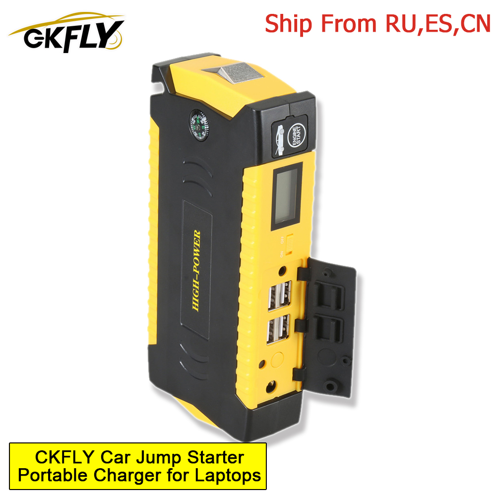 GKFLY Car Jump Starter 12V Super Power Bank Auto Start Battery Lithium Polymer Starting Device Booster Jumper Cables Buster LED
