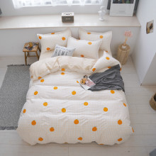 Girl's room decoration bedspread Bed Cover Flat Sheet Pillow Cases Bedding Linen Set No quilt(China)