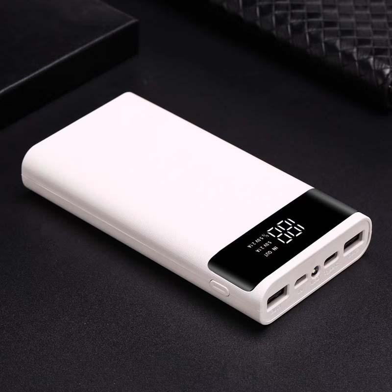 Micro Type C USB Ports DIY Powerbank Case 18650 Battery LED Light Charging Digital Display Power Bank Kit Parts External Charger