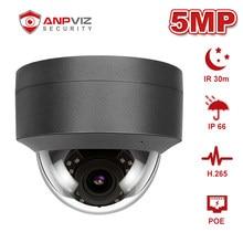 Anpviz-cámara IP POE de 5MP para seguridad interior/exterior, H.265, IP66, visión nocturna, CCTV, P2P, IR, 30m