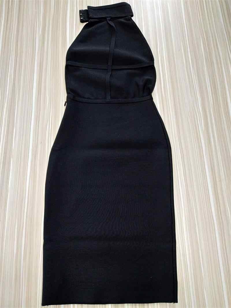 เซ็กซี่ Backless Halter Bodycon ในสต็อกสินค้าใหม่คนดังชุดราตรีไนท์คลับผู้หญิง Vestidos
