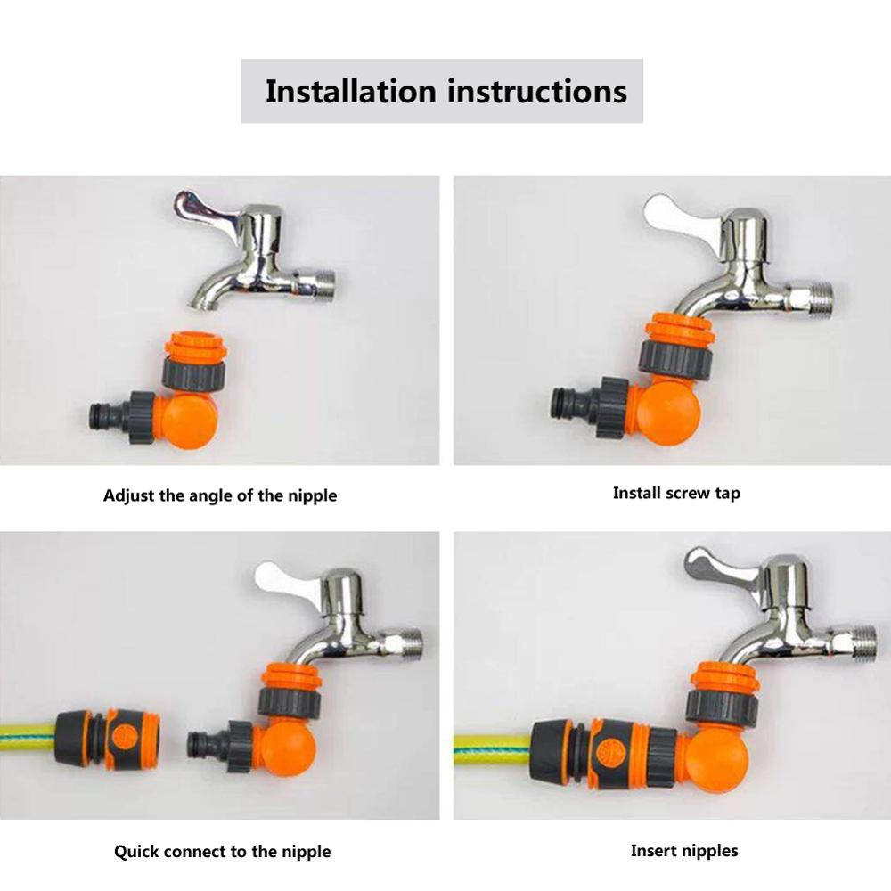 Quick Connector Rotatable Water Tap Splitter Irrigation Agriculture Quick Water Connector Water Control Valve 1/2 inch 3/4 inch 4