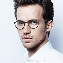 ZENOTTIC Marco de gafas redondas de titanio para hombre, lentes de marca óptica Retro, accesorios para hombre, 2020