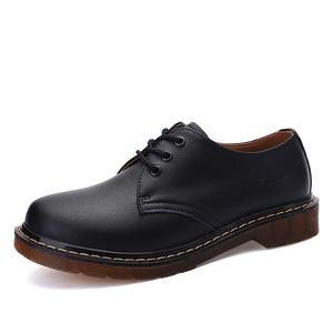 Mens Shoes Big-Size Genuine-Leather Flats Fashion Top-Quality 38-45