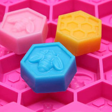 #20 Silicone 19 Cell Bee Honeycomb Cake Chocolate Soap Candle Bakeware Mold Mould Bakeware Decoration DIY Mold Cake