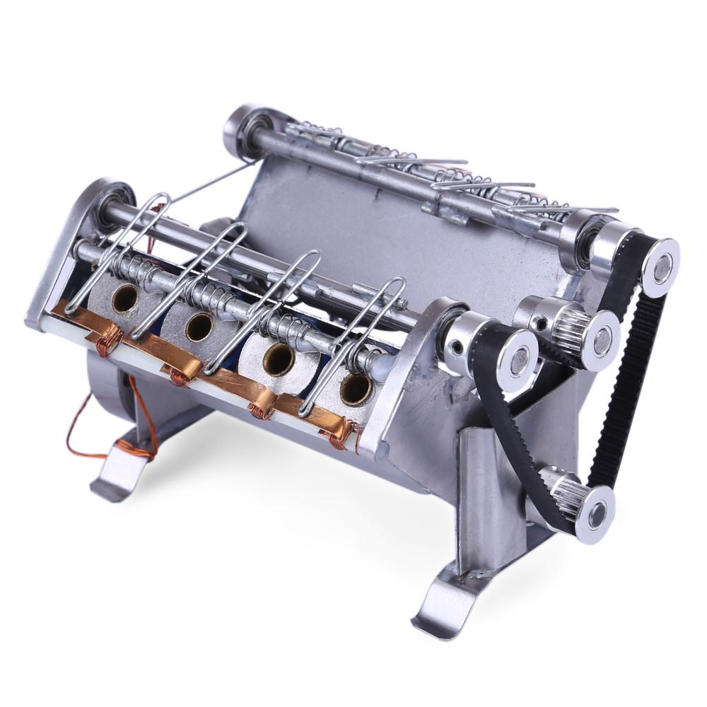 V8 High Speed Engine Model Electromagnetic 8-Cylinder Car Engine Working Principle Stem Toy Early Learning Education Toy For Kid