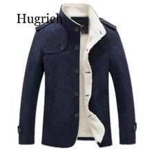 Brand Men Wool Blend Coats 2020 Winter Fashion Men's Solid C