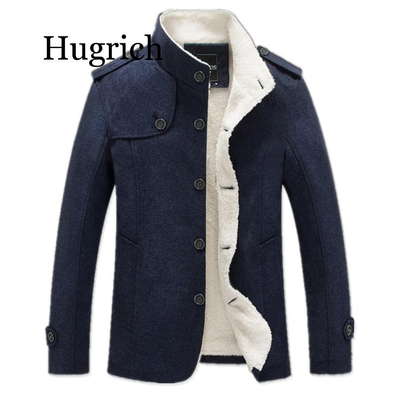 Brand Men Wool Blend Coats 2020 Winter Fashion Men's Solid Color High Quality Coat Clothing Male Thick Warm Overcoat