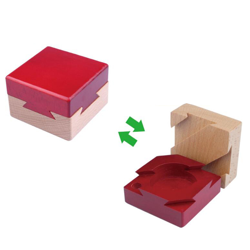 Wooden Creative Puzzle Game Toys Learning Educational Toys Classic IQ Wooden Spirit Magic Box Puzzle Popular Toys For Children