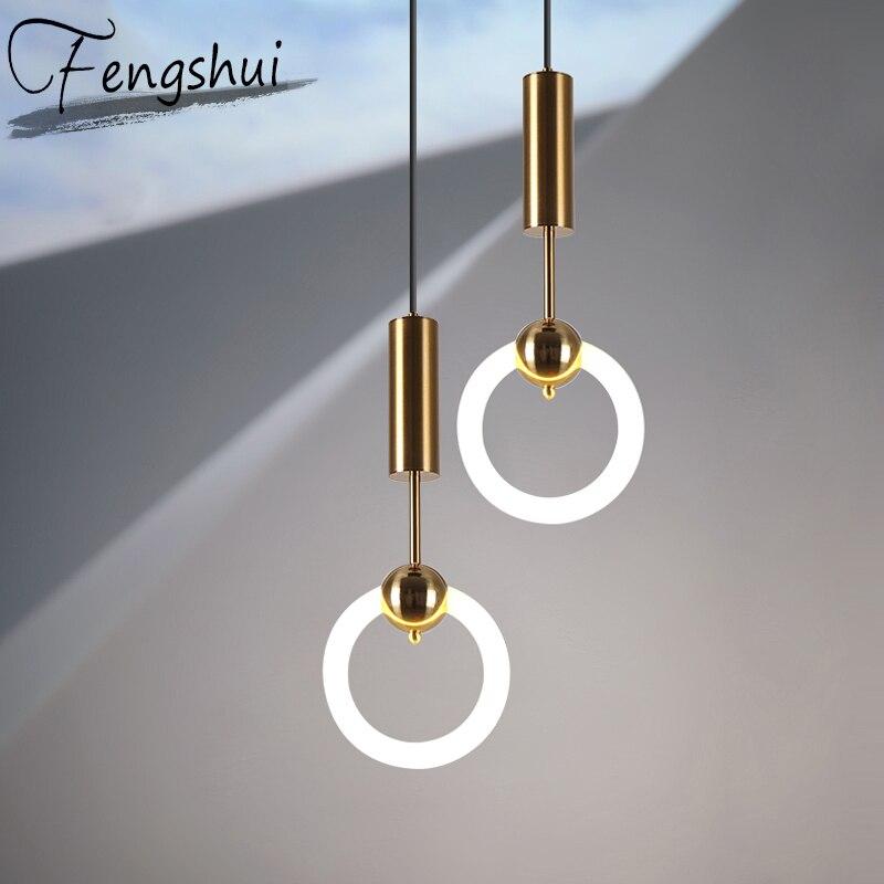 Nordic Iron Glass Pendant Lights Lamp Simple Pendant Lighting Living Room Dining Room Kitchen Bedside Bedroom Loft Hanging Lamp