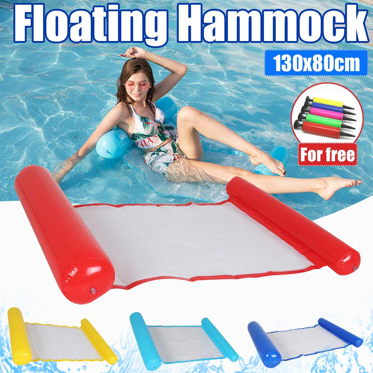 Water hammock recliner inflatable floating Swimming Mattress sea swimming ring Pool Party Toy lounge bed for swimming 2020 1