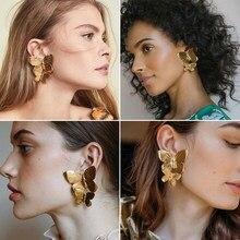 Vintage exagere borboleta balançar brincos boho ouro pendientes brincos para a moda feminina jóias 2021 na moda