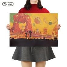 Póster clásico de Anime TIE LER, póster de papel Kraft clásico, pegatinas de pared para sala de estar, decoración del hogar, 50.5X35cm