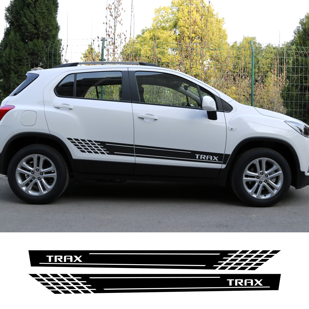 2pcs Car Stickers Auto Stylish Side Vinyl Film For Chevrolet Trax Decals Styling Decoration Tuning Automobiles Car Accessories
