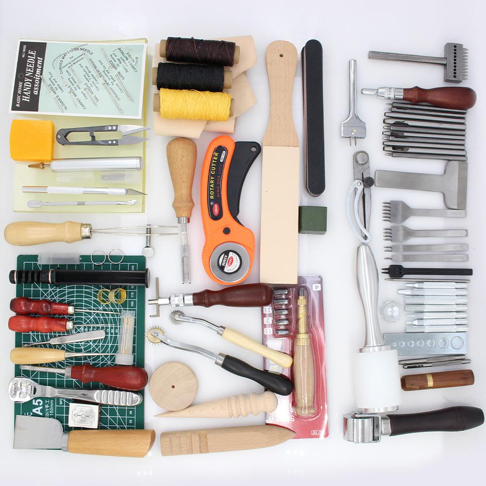 herramienta profesional de trabajo 4 en 1 cincel Zoomarlous punz/ón Juego de agujas de cuero punz/ón juego de cuchillas de piel con cordones