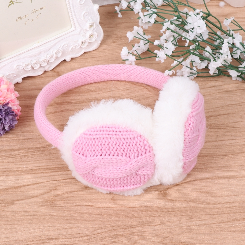 Unisex Earmuff Ear Warm Winter Boy Girls Plush Woolen Earflap Earbud Snow Warmer LX9E