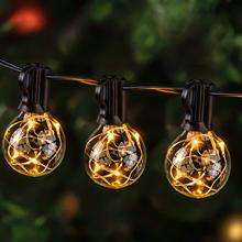 G40 Globe String Lights Christmas Festoon Bulb Fairy Lamp 7.5M 25FT Waterproof Patio Strings Light Outdoor Decoration for Garden