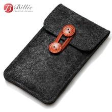 Handgemaakte Wolvilt Portemonnee Stal Voor iPhone 8 Plus 5.5 inch case Voor iPhone 6S 7 8 4.7 inch zakken mobiele telefoon tassen clear case Cover