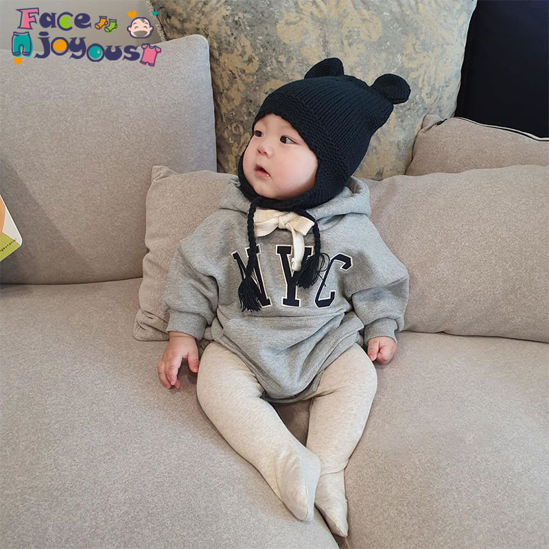 Baby Girl Hooded Rompers Autumn Newborn Baby Clothes Cotton Baby Boy Clothing Roupa Infant Romper Jumpsuits