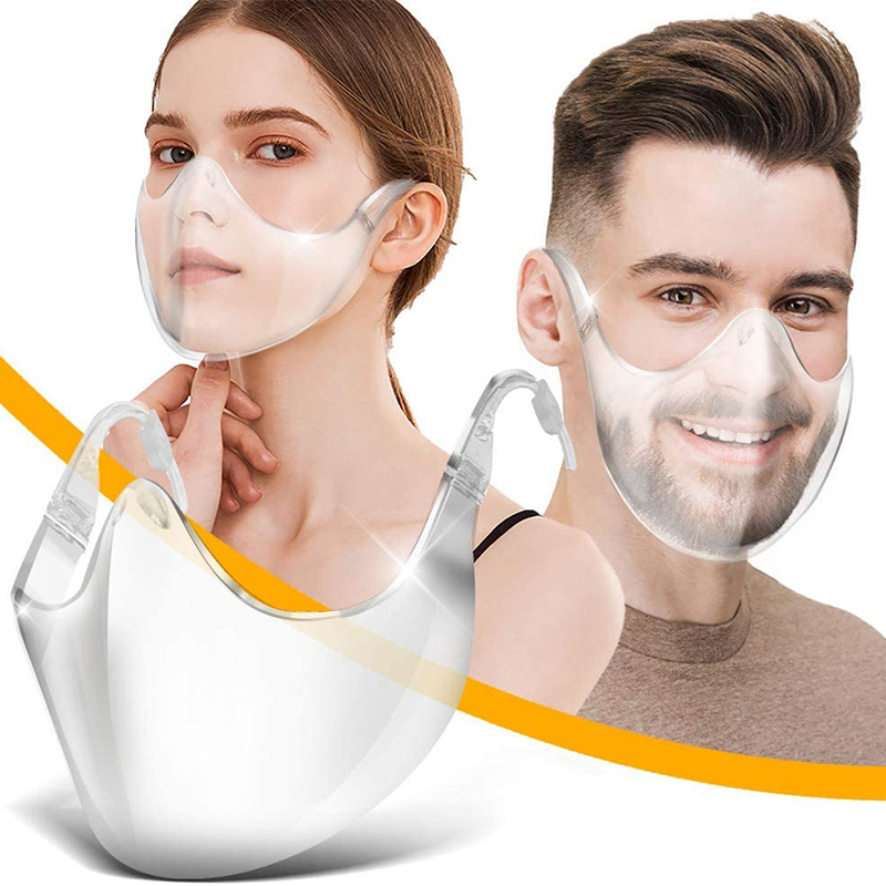 Transparent Face Shield Kitchen Dust-proof Face Cover For Adult Reusable Outdoor Anti-PM2.5 Prevent Saliva Splash Face Mask