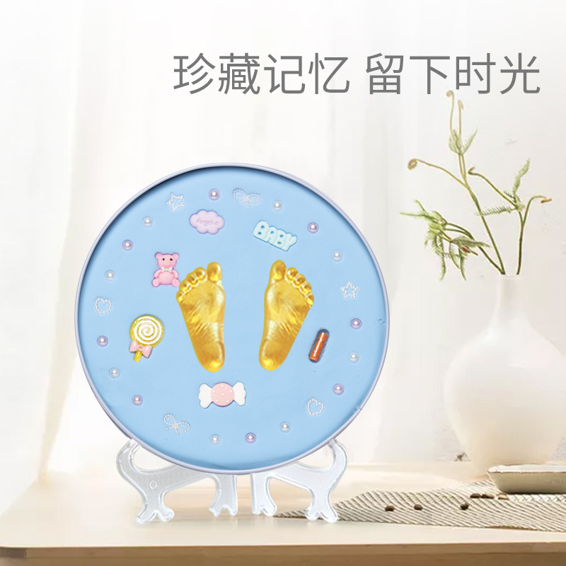 Baby Handprint Footprint Souvenirs Hand And Footprint Makers For Newborn Baby DIY Kit Toys Gift  Souvenir For Newborn Babies