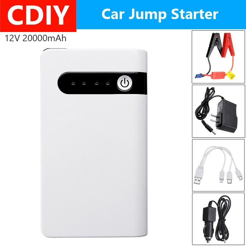 12V 20000 Mah Auto Jump Starter Booster Usb Jumper Box Power Bank Batterij Oplader Nood Uitgangspunt Apparaat