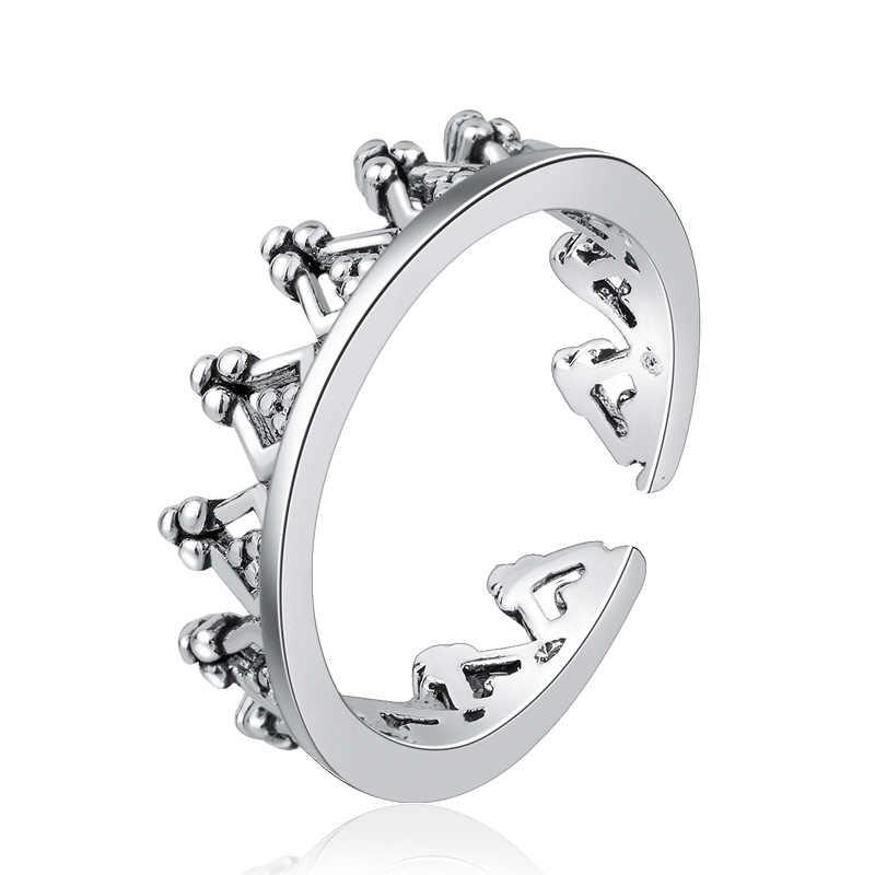 VINTAGE Handmade 925 เงินสเตอร์ลิงแหวนผู้ชายผู้หญิงเงินไทยแหวนบุคลิกภาพ