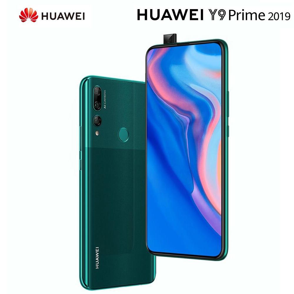 Original HUAWEI Y9 Prime Mobile Phone 4G RAM 128GB ROM Kirin710 Smartphone 6.59 Inch Screen Cellphone Support Google Play Phone