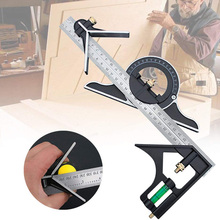 300/600MM Multifunctional Angle Ruler Adjustable Stainless Steel Sliding Combination Ruler Woodworking Level Measuring Tools
