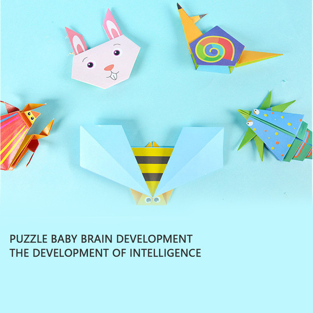 54pcs/set Origami Paper 3D Cartoon Animal Pattern Toy Kid Handmade DIY Color Papers Scrapbooking Craft Decoration Education Toys 4