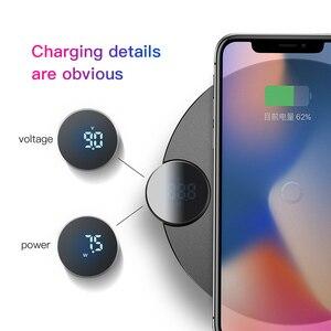 Image 2 - Chargeur sans fil Baseus 10W pour iPhone XS Max XR X 8 affichage numérique QI chargeur sans fil pour Samsung Galaxy S8 S9 Huawei