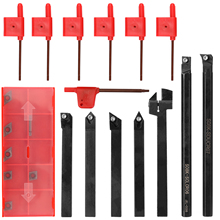 8mm 7pcs set High Hardness Milling Tool Holder Quick Cutting Efficiency Lathe CNC Arbor Turning Tool Kit with Insert and Wrench