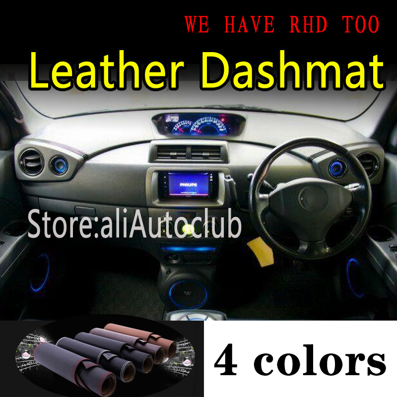 For TOYOTA BB QNC20 DAIHATSU COO MATERIA SUBARU DEX 2006-2016 Leather Dashmat Dashboard Cover Dash Mat Carpet Car Accessories