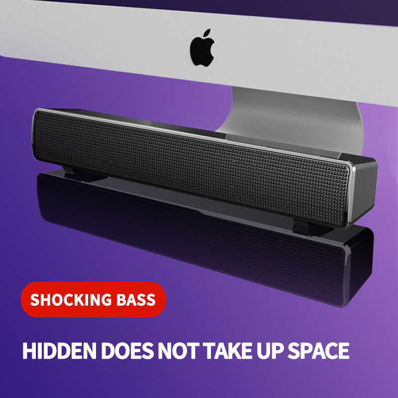 Sans fil Bluetooth haut-parleur barre de son tv ordinateur haut-parleur Subwoofer basse Surround boîte de son pour PC portable téléphone tablette MP3 MP4