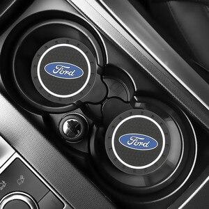 2PCS Car Water Cup Bottle Holder Anti-slip Pad Mat for Ford Fiesta EcoSport ESCORT focus 1 focus 3 focus 2 Car Styling